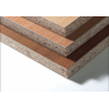 Particle board in flakeboard