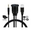 waterproof USB 3.5mm cable
