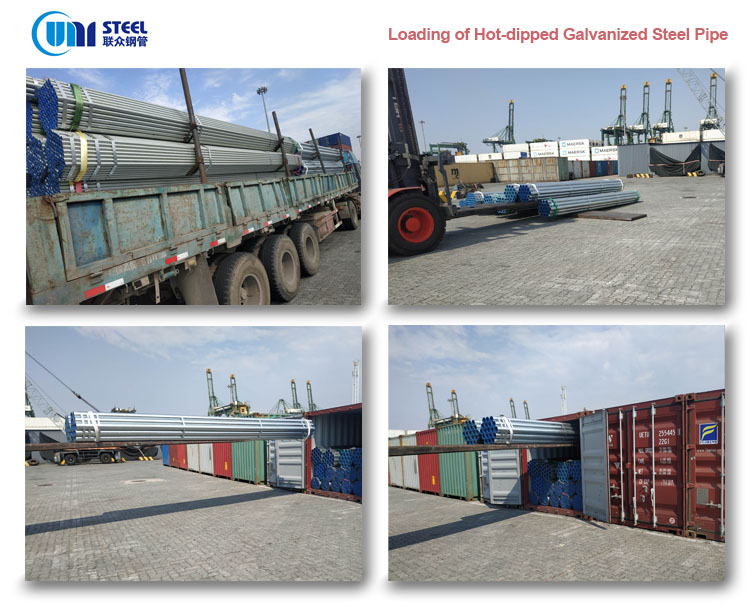 Container Loading - galvanized steel pipe