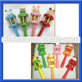 2013 Top rattles toy for the baby wooden baby rattles