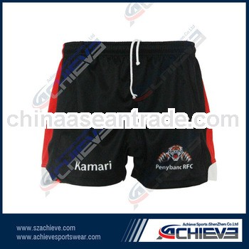 2013 latest newest training cheap 100% polyester rugby shorts