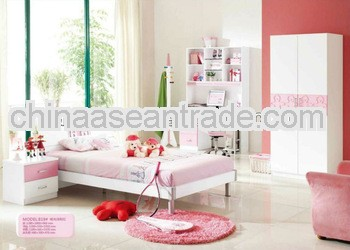 2013 maiden pink bedroom suite was made from E1 MDF board and environmental protection paint