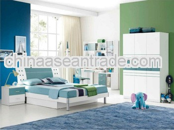 2013 neat children bedroom suite was made from E1 MDF board and environmental protection paint