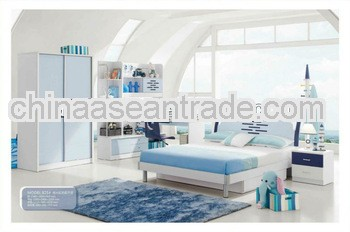 2013 nice kid bedroom suite was made from E1 MDF board and environmental protection paint