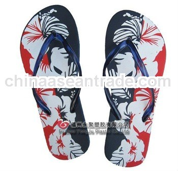 2013 pe and pvc lady design flip flop