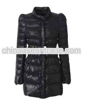 2014 Wholesale ladies fashion shiny duck down jacket