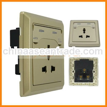 2100mA AC110- 250V /10A Universal dual USB port wall socket for ipad for iphone