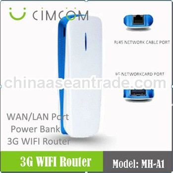 3G mifi USB router with power bank 1800mah --- MH-A1