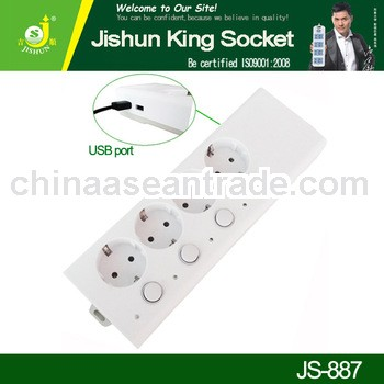4 Way Extension Cord USB Socket Outlet With Switch/10A 4 Gang Extension Socket