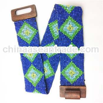 BEADED BELT TRIBAL AZTEC NAVAJO 22 COLORS STRETCH HANDMADE