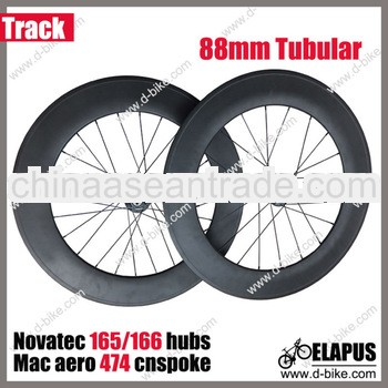 Best for speed 88mm track carbon wheel clincher tubular