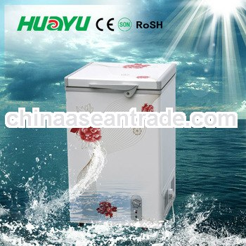 Chest Freezer With CE,CB,SONCAP With Led Light/Inner glass/Wheels/Basket/Handle/Lock From100L-500L