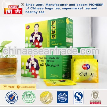 Chinese herbal tea for cirrhosis of liver