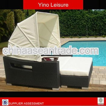 Discounting Outdoor Furniture Rattan Rectangle Sofa Bed RB004 RB004