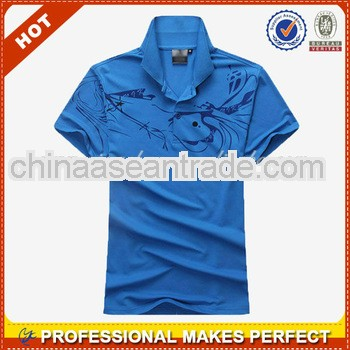 Fashionable fitted printing us polo t-shirts OEM(YCP-B0106)
