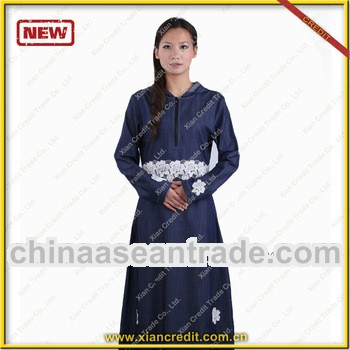 Fashionable wholesale duba jean women abaya KDTE001