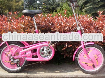 Female Portable aluminum rim 20''Folding bicycle with powerful brake