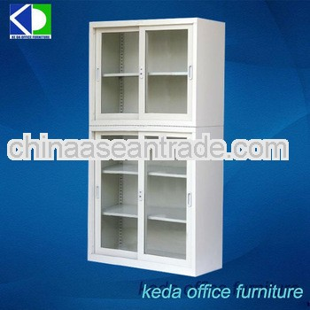 Glass Metal Office Sliding File Cabinets