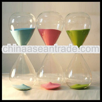 Home Decoration Big Belly Shaped 30 Minutes Colorful Sand Glass