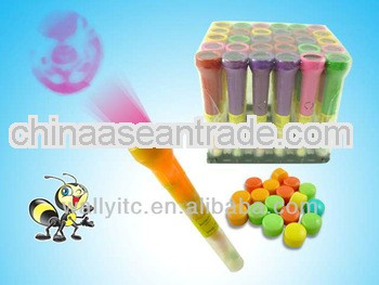 Interesting Projection Flashlight Lighting Toy With Candy Inside/Toy torch
