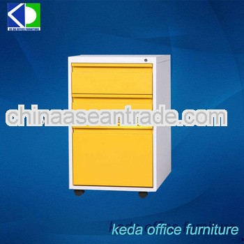 Metal Office Drawer Cabinet, Mobile Portable Cupboard