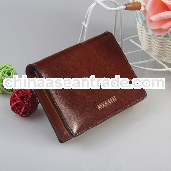 New design genuine leather business name card holder