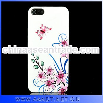 Smart design for iphone5 pc flower phone cover