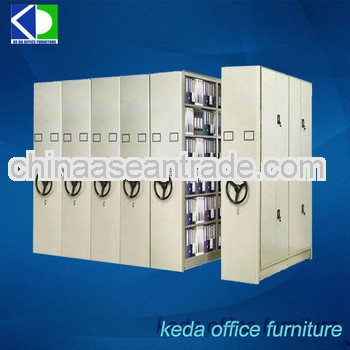 Steel Library File Compactor Cabinet Movable Mass Shelf