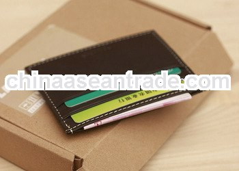 brown leatherette wallet for multiple cards and changes