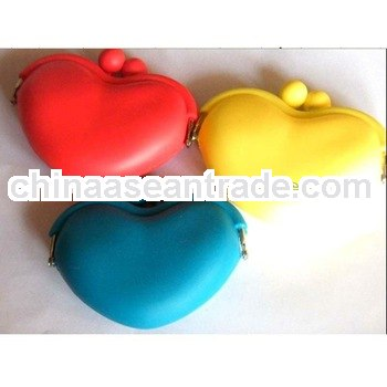 heart shape silicone coin purse factory large stock