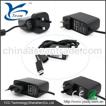 high quality power adapter for xbox360 kinect (110-240v US/UK/EU plug) with CE
