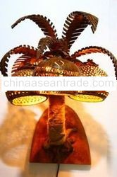 Coconut craft lamp