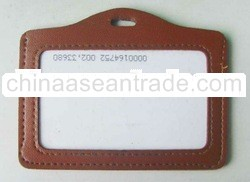 Leather USB Credit Card ID Holder with polyester landyard