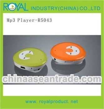 mini clip mp3 player with smile face R5043