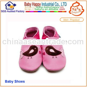pink Genuine Leather Girls baby shoes