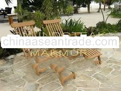 Teak Steamer chair - High quality - material: Solid teak wood