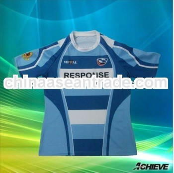 sublimation polyester rugby jersey