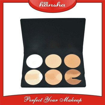 wholesale!!!6 color natural mineral face powder in palette