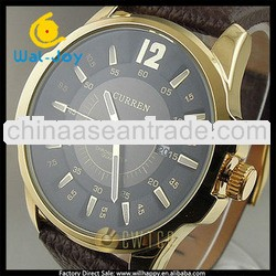 2013 new arrival pu leather band curren watch for business men(SW-1237)