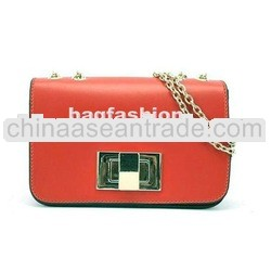 2012 New Women Korea PU Leather Chain Shoulder Strap Bag