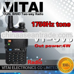 VT-UV3 Dual Band Two Way Radio Walkie Talkie for Promotion 4w 128 channels China