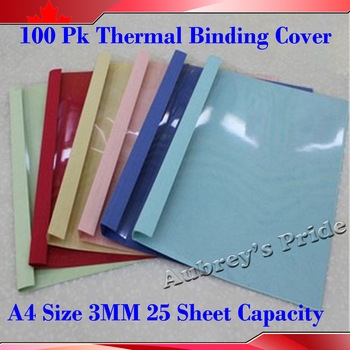 100PK 3MM 25Sheets Capacity 70g Pages A4 Size Bind Cover for PERFECT HOT GLUE Thermal Binding BOOK B