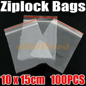 100pcs/lot Jewelry Ziplock Zip Zipped Lock Reclosable Plastic Poly Clear Bags Free Shipping & Dr