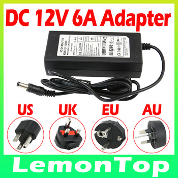 12V 6A AC/DC Power Supply Charger Transformer Adapter for 5050 3528 LED RGB Strip light US/UK/EU/AU