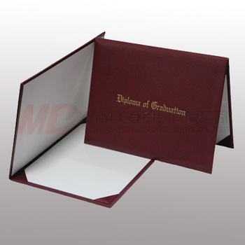 "Imprinted Diploma Cover/ Holder - 8 1/2"" x 11""-Maroon"