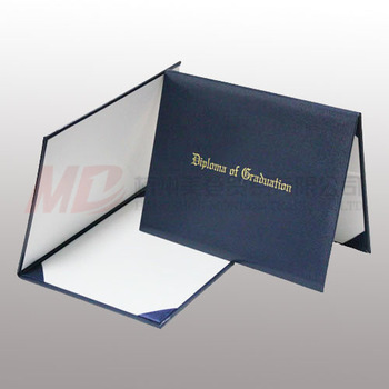 "Imprinted Diploma Cover/ Holder - 8 1/2"" x 11""- Navy Blue"