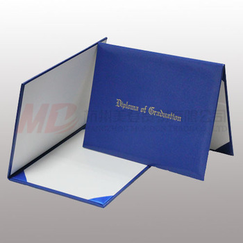 "Imprinted Diploma Cover/ Holder - 8 1/2"" x 11""- Royal Blue"