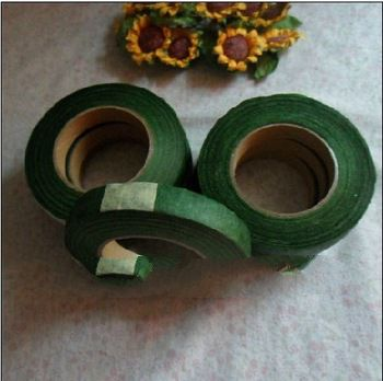 free shipping 1/2''1.2cm 25yards/roll 5PCS/LOT Flower Wrapping Green Tape,floral paper tape