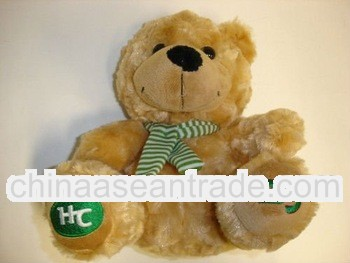 "2012 New cute lovely 8"" tall stuffed plush bear doll"