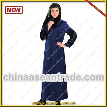 2013 Hooded abaya jilbab fashion with morocco taste